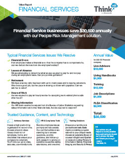 Financial Services Industry Value Report